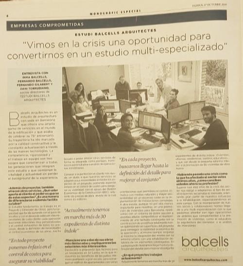 En el especial de Arquitectura, construcción y diseño de La Vanguardia.