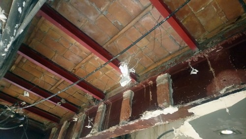 Acabadas las obras de refuerzo estructural de todos los forjados de un edifico del ensanche de Barcelona