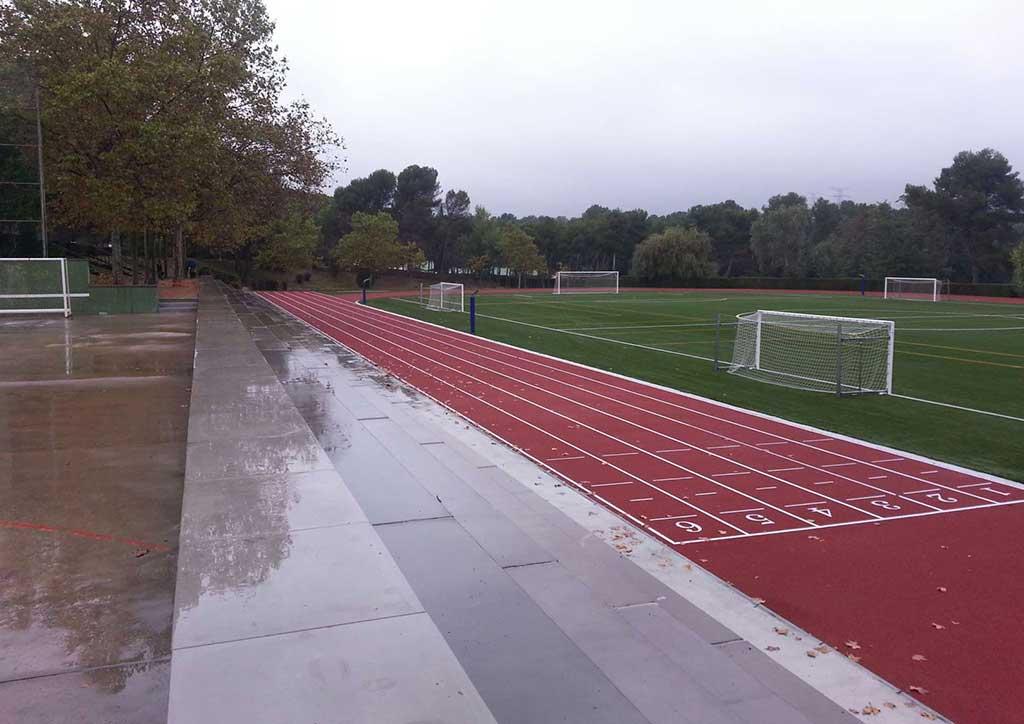 Pistas deportivas para colegio en Sant Cugat del Vallés.