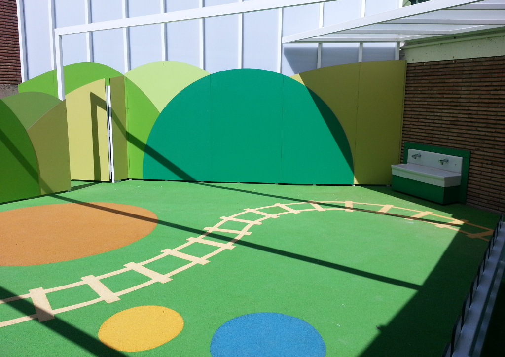 Patio para escuela de educación infantil en Sant Cugat del Vallés.